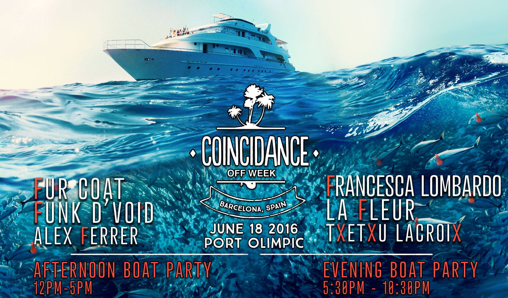 Coincidance boat party